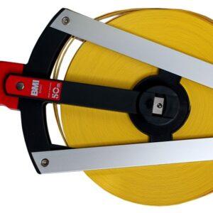 BMI520344050A Mérőszalag, 50 m, üvegszálas műanyag, mm osztással
