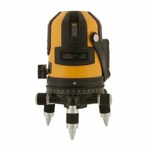 CROSS22 Automata vízszintes (90°), függőleges (2x) derékszögkitűző lézer 3 tüskéjű állvány csatlakozó adapterrel, állvánnyal (150cm)
