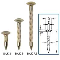 10LK-3 Lencsefejű acél jelölőszeg 30 mm