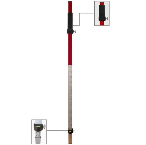 GSLAS7056-5 Mérőrúd lézerszintezőhöz védőtokkal