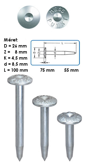 10ZS-5MP Jelölő szeg 55 mm szárhosszal
