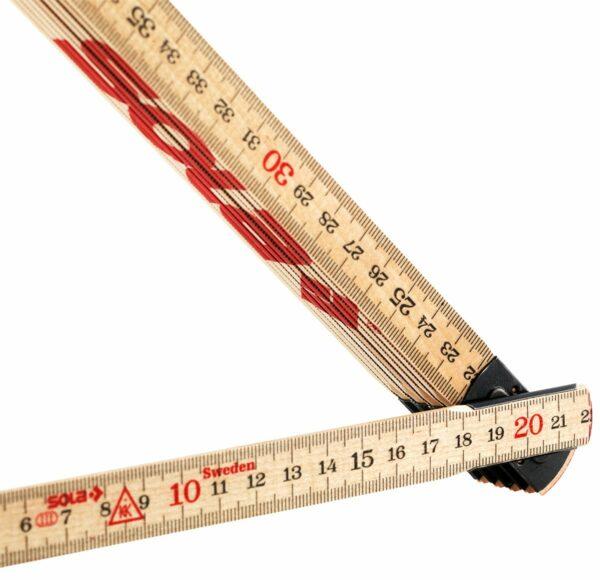 H 2/10 Fa mérővessző 6 colstok 2 m