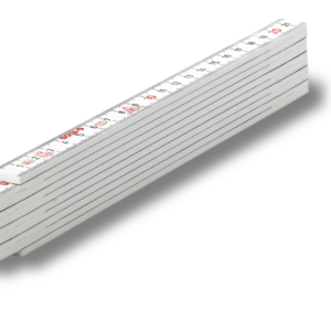 HK 2/10 W Műanyag mérővessző / colstok fehér 2 m