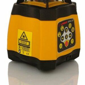 SPIN220 Többfunkciós automata szintező forgólézer (vsz., függ és dőltsík kitűző), akkumulátorral, érzékelővel, lécadapterrel, üzembe helyezve, betanítva, 100% hatékonyság garanciával,